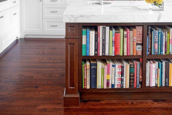 A Built-In Cookbook Shelf