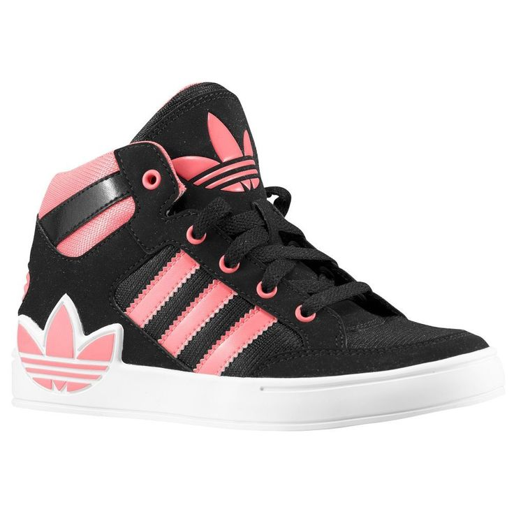 n2sneakers - adidas Originals Hard Court Hi Girls' Preschool Black/Red  Zest/White