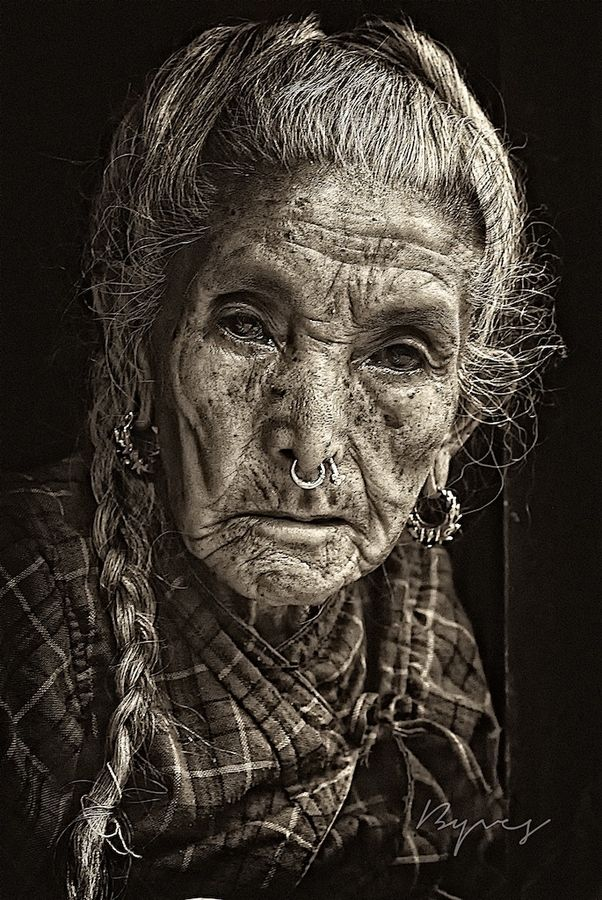 amazing beauty lies beneath the years- a face can fill a book