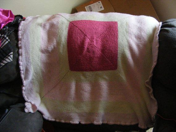 Baby Blanket  about 36in by 36in by TiffsCreativity on Etsy, $40.00   .... I crochet, knit, sew, draw, etc... I decided that I will start doing commissions for crocheted baby blankets on etsy!!  I might have a coupon code for you, just ask me if I do! =)