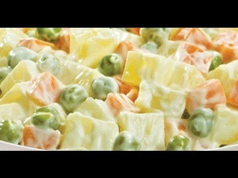 SALADA DE MAIONESE DO SUL - SALADA DE BATATAS - COM OVOS COZIDOS ( Receita de Familia) - YouTube