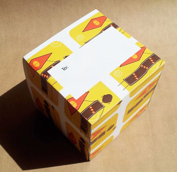 All-In-One Gift Box. African Soldier Gift Box 9 x 9 cm by Boxxcard on Etsy