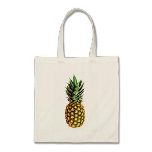Van het de drukbolsa van de ananas zak | Gezonde v Canvas Tassen