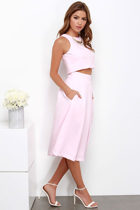 2 piece white dress set your goals
