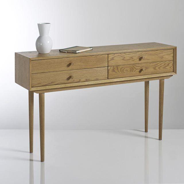 Console vintage 4 tiroirs quilda la redoute interieurs for Bureau quilda