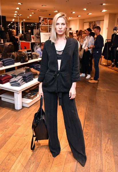 Sarah Brandner durint the GraziaxTimberland Style Cocktail #model #outfit #black #overzise