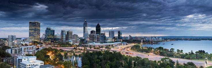 Storm over the City, Perth, Western Australia