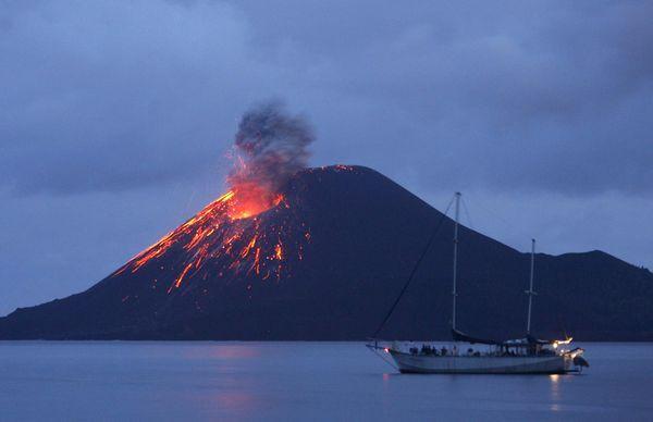 Anak Krakatau mountain, Lampung-Indonesia