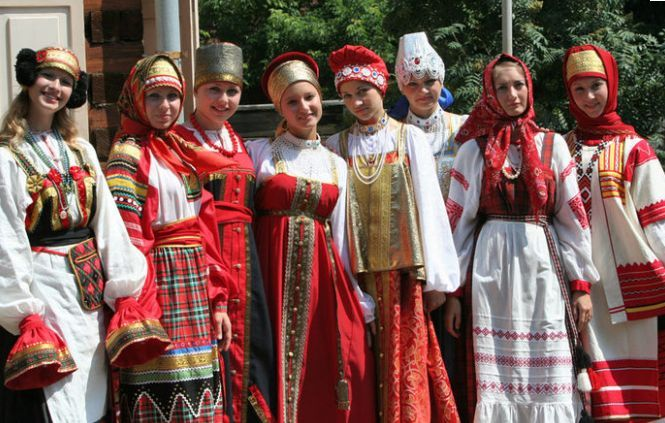 Russian traditional clothing.