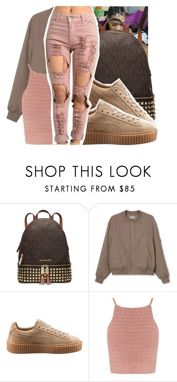 """"""""""" by royaltyvoka ❤ liked on Polyvore featuring Michael Kors, Puma and SHE MADE ME"""