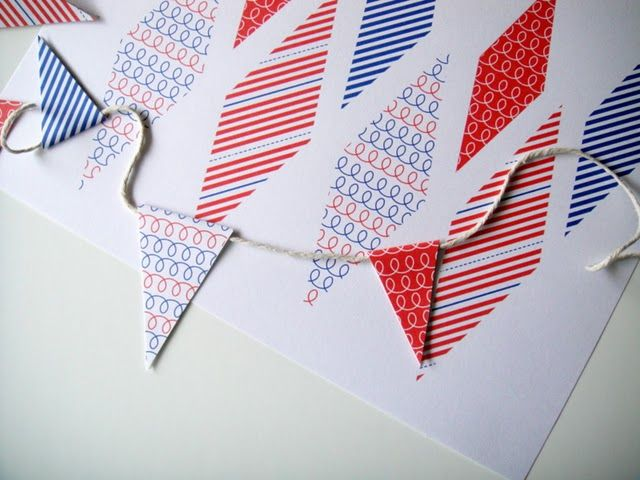Free Printable 4th of July Pennant Banner ~ Be Different...Act Normal