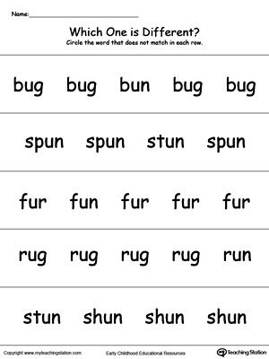 Which One Is Different Un Words