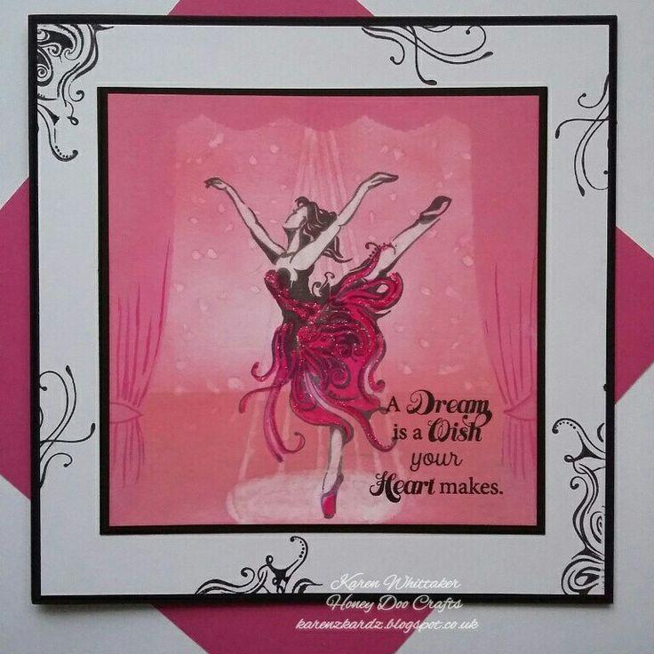 Beautiful Ballet stamp set by Honey Doo Crafts xx  #beautifulballet #honeydoocrafts #dtsample #ballet #dancer #distressoxides #stamps #stamping #card #creative #craft #ilovetocraft