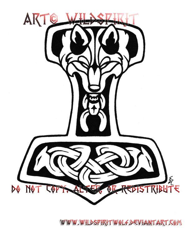 Wolven Thor's Hammer Tattoo by WildSpiritWolf