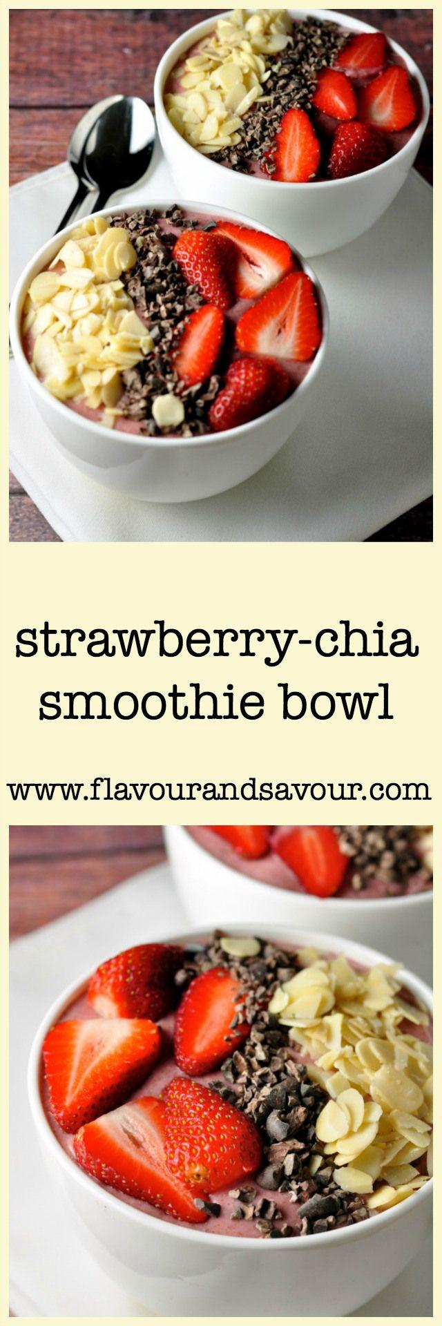 Paleo Strawberry-Chia Smoothie Bowl   #paleo #grainfree #glutenfree
