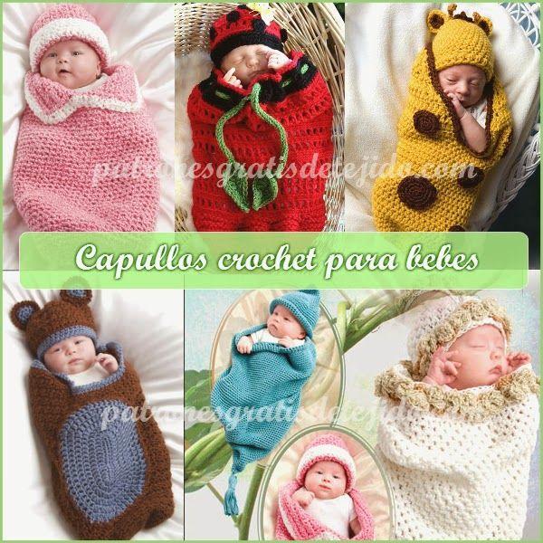 Crochet y Dos agujas: CURSO GRATIS DE CROCHET: Capullo o cocoon y gorro ...