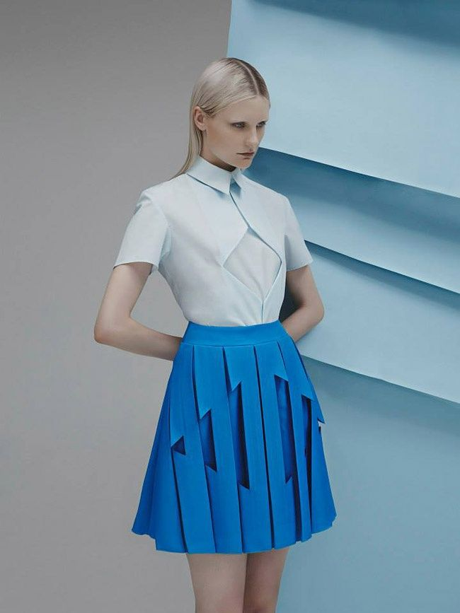 Look like a futuristic flight attendant. Designer: Georgia Hardinge