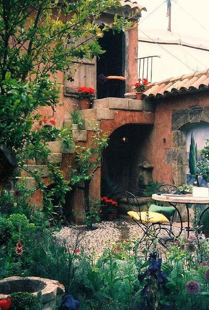 .Looks like an Italian villa.