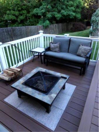 Deck With Hearth Pit (stones In Deck).... Find Out Even