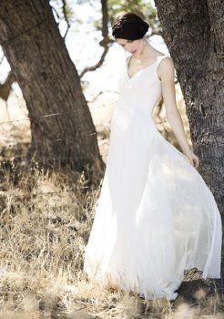 légante en mousseline de soie avec des robes de mariage de forme empire de maternité