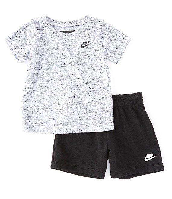 Nike Baby Boys 12-24 Months Short-Sleeve Slub Tee & Shorts Set ...