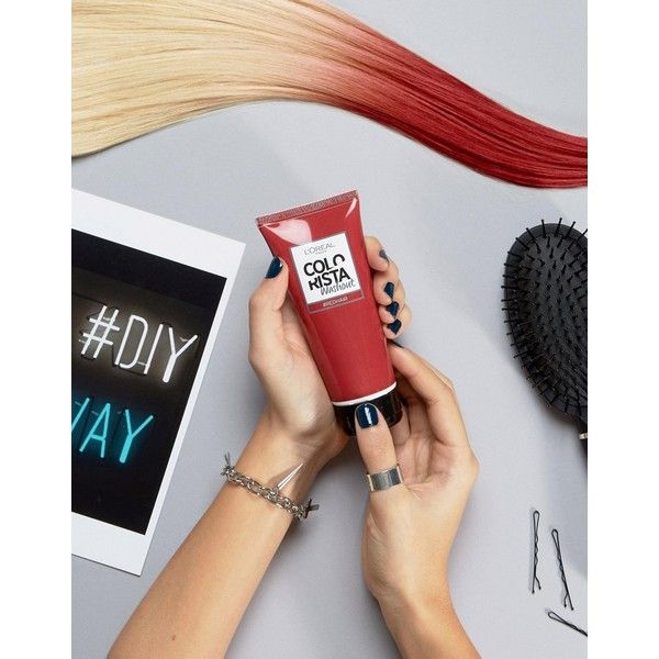 L'Oreal Paris Colorista Wash Out Hair Colour - Red (28 SAR) ❤ liked on Polyvore featuring beauty products, haircare, hair color and red