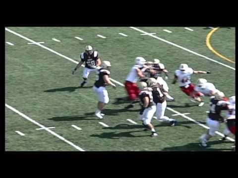 College Football Nebraska Wesleyan University vs Northwestern College 1st half  2014.