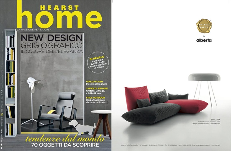 Home Magazine - April, 2012  Bellavita Sofa - Golden Young Collection by #Alberta #Pacific #Furniture