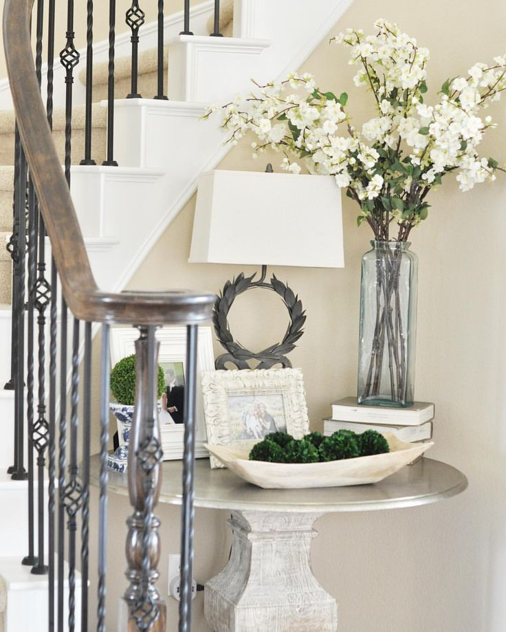 Happy Saturday, friends!  I'm just headed out for some much needed me time, which means a latte and a mani/pedi today.  I was tagged by my sweet friend Ashley @ashleysdecorspace_ to play along with a few fun Saturday hashtags, so I'm sharing this little cove next to our curved staircase for #MySaturdayVignette #saturday🌸stems #simplesaturdays and #mybhg.  Thank you for the tag, Ashley! 😘💕 Enjoy your day, friends!