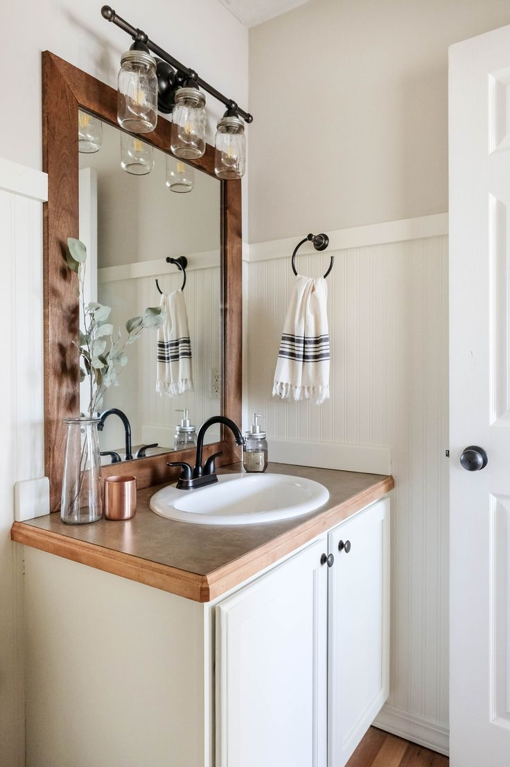 9 Farmhouse Bathroom Remodel Ideas On A Budget With Images