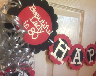 Best Th Birthday Celebration Images On Pinterest Birthday - 80th birthday party ideas