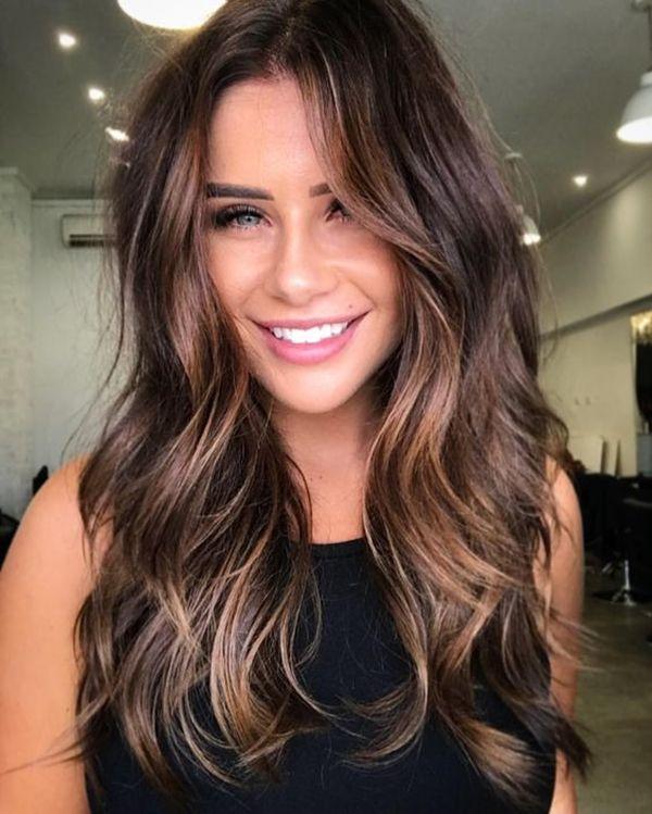 Hair Colour Ideas For Brunettes Balayage Frisur Balayage Brunett Haarfarben