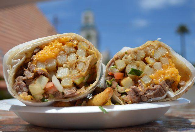 California burrito: carne asada, fries, guacamole, cheese, salsa, sour cream