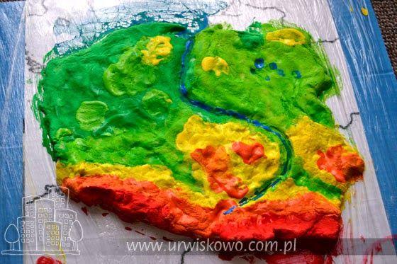 """Trójwymiarowa mapa Polski ~ """"URWISKOWO"""""""