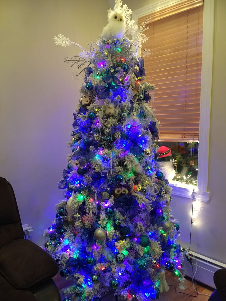 17 best images about my christmas trees on pinterest owl - Blue themed christmas tree ...