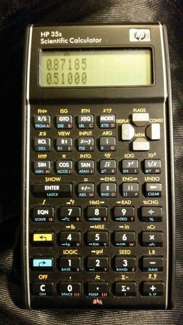 HP 35S RPN/algebraic scientific calculator