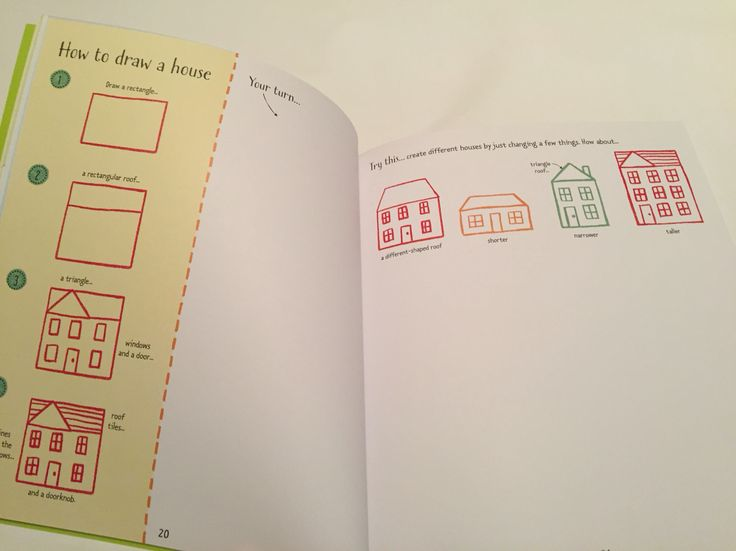How to draw a house -#raisasbooks http://org.usbornebooksathome.co.uk/RaisBooks/catalogue/catalogue.aspx