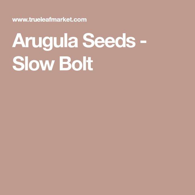 Arugula Seeds - Slow Bolt