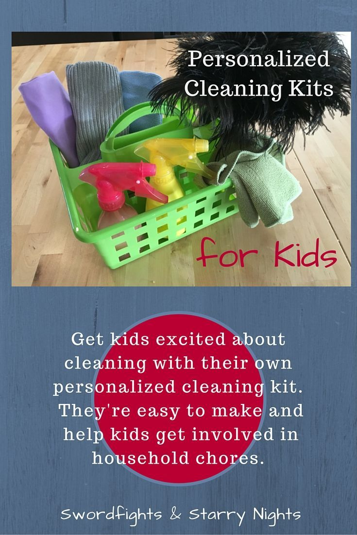 Get kids excited about cleaning with their own personalized cleaning kit. Personalized Cleaning Kits for Kids | Organize your home | Kid Cleaning Kits | Cleaning Bucket
