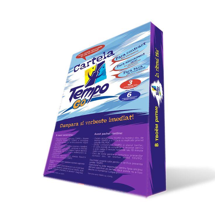 Sim card box for sub-brand Tempo Go