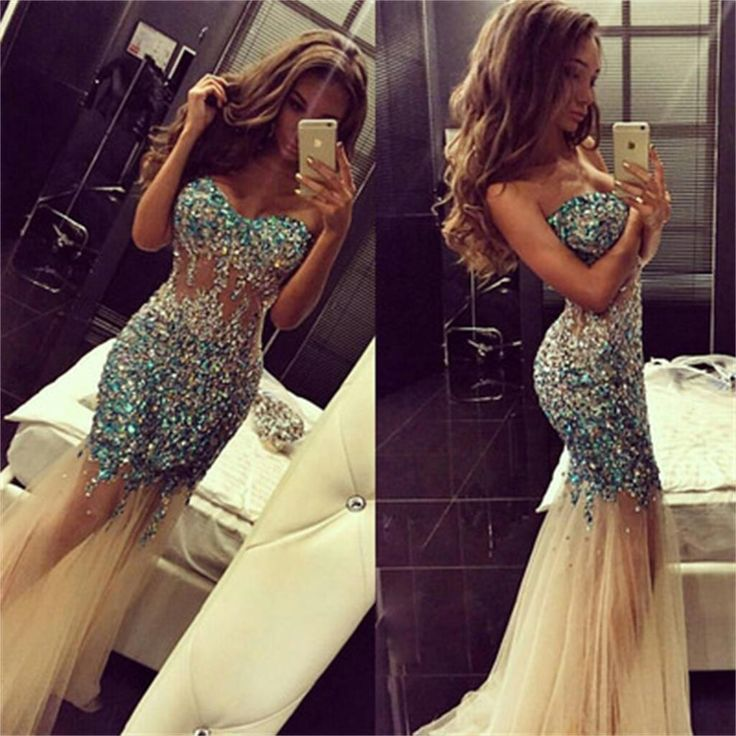 See Through Mermaid Long Newest Sexy Evening Prom Dresses Online,PD0103 The dress is fully lined, 4 bones in the bodice, chest pad in the bust, lace up back or zipper back are all available, total 126