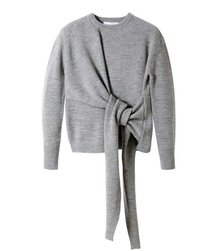 ル シェル ブルー/LE CIEL BLEU - ノットディテールニットトップス-GRAY(ニット/knit)   RESTIR リステア