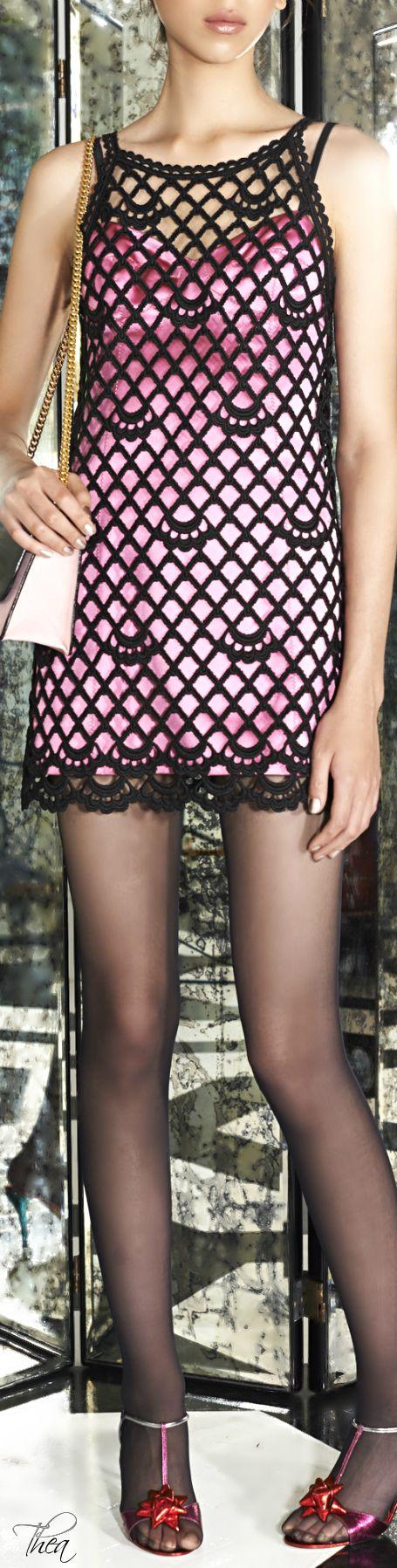 Marc Jacobs● Resort 2015, Pink Duchess Satin Tank Dress