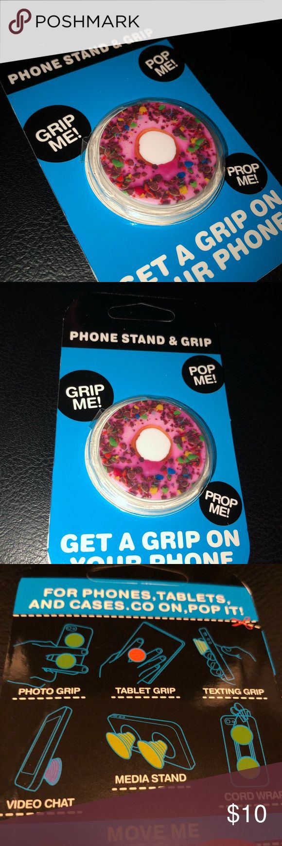 Donut Popsocket🍩 The Popsocket! Perfect to use as a grip for any device such as phones and tablets. We are open to negotiations and reasonable offers! ‼️Buy 2 and get 1 free‼️ Checkout my closet for more designs! Accessories