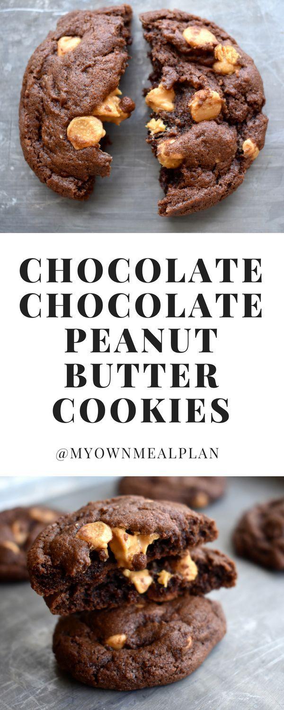 Chocolate Chocolate Peanut Butter Cookies
