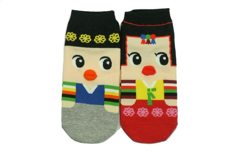 Korean Traditional Couple Character Socks 2Pairs Women Unisex Cute Souvenir Gift #GGORANGNAE #Casual #CharacterSocks #women #Kid #Girl #Lady #Funny #Novelty #Pattern