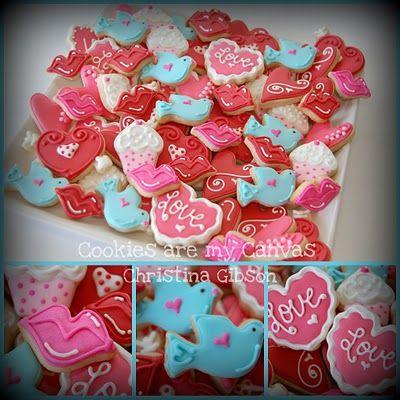 valentine mini cookies