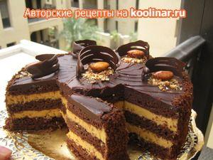 Фото к рецепту: Шоколадный торт  Любимый МИКС .
