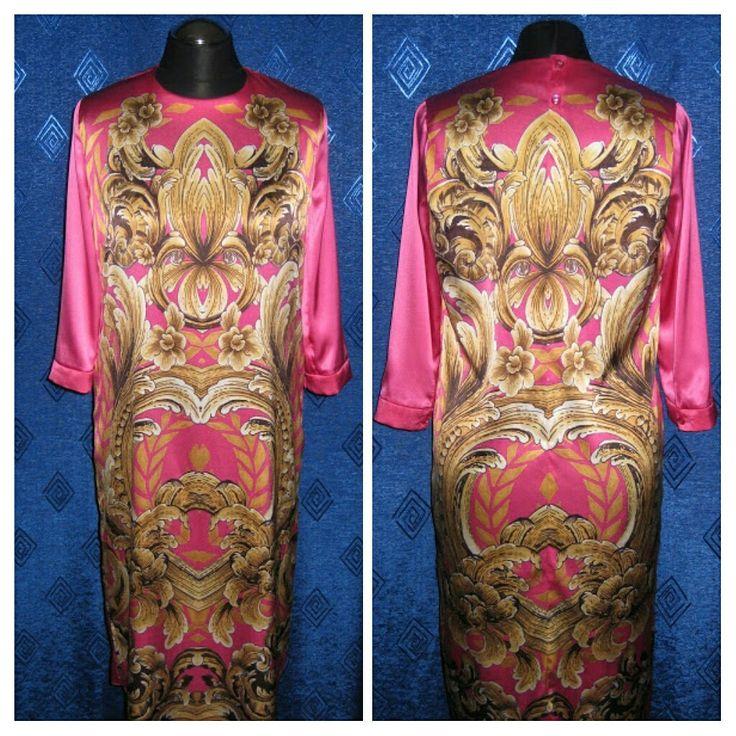 Платье из шелка с принтом