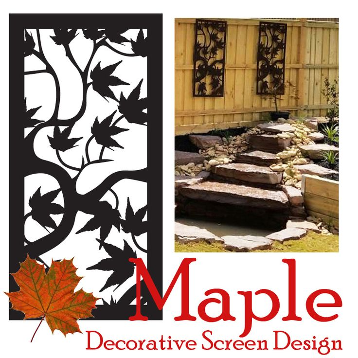 Feature Screen Tuesday: the lovely 'Maple' design. Every Tuesday on the QAQ blog is a feature screen focus and all the decorating styles and products it inspires.  #decorativescreens #wallart #privacyscreens